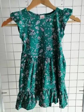 Princess Dress V2 :  GREEN FLOWER  6-8