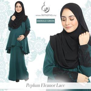 Peplum Eleanor Lace : Emerald Green