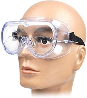 Anti-Fog Len Protective Eyewear Safety Goggles for Splash with Lanyard (FREE wraping bubble)