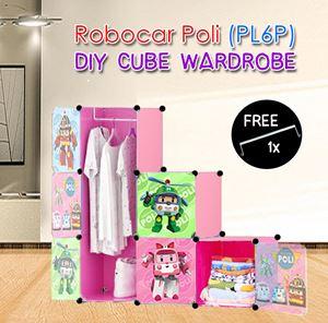 ROBOCAR POLI PINK 6C DIY WARDROBE (PL6P)