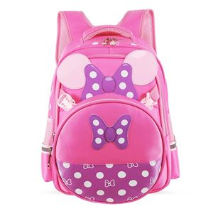 MINNIE MOUSE BAGS FOR GIRLS AND PRIMARY KIDS (PINK AND PURPLE)