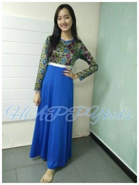 Jubah SONGKET BLUE for LADIES