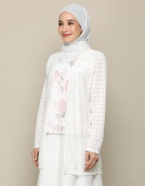 KUNTUM LACE CARDIGAN IN WHITE