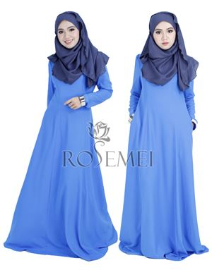 SALEEMA EXCLUSIVE DRESS - ROYAL BLUE