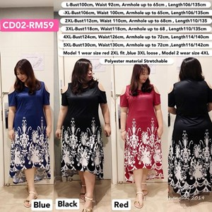 CD02 Ready Stock *Bust 39 to 51 inch/ 100-130cm