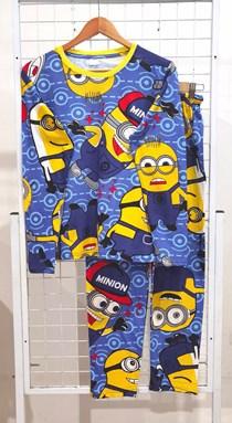 SIZE 2XL DEWASA Pyjamas MINIONS BLUE (GL)