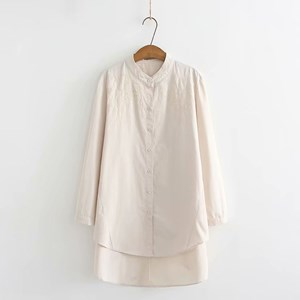 Oversized Embroidered Shirt (Off White)