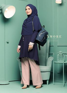 BLOUSE AMORE LACEY -  DARKBLUE