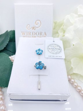 Set Flower Aquamarine