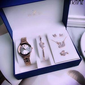 SWR08 A04 Swarovski Elegant Watch Set (Watch + Necklace + Earring + Ring + Bangle)