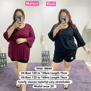 3966 *Ready Stock *Bust 39 to 59 inch/ 100-150cm