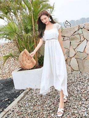 Retro White Dress