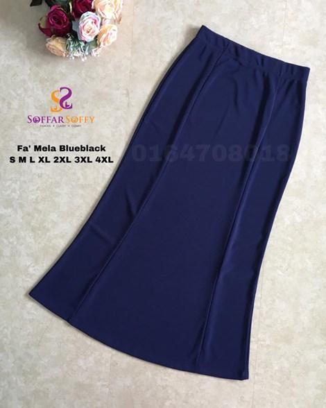 FA'MELA BLUEBLACK ( SAIZ S M L XL 2XL 3XL 4XL )