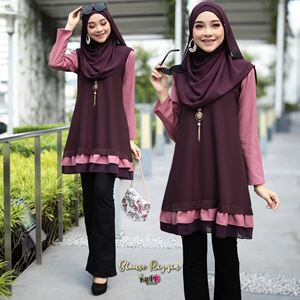 BLOUSE RIZQIN - PURPLE PINK