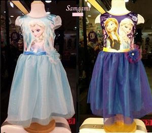 @  P30963 FROZEN DRESS ( BLUE / PURPLE )