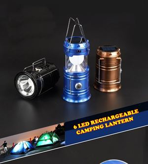 6 LED RECHARGEABLE CAMPING LANTERN