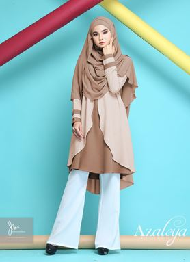 AZALEYA LUXURIOUS BLOUSE ( Seductive Brown)