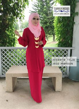 Kebaya Teja Dark Red Maroon