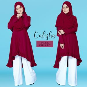BLOUSE QALISHA - DARK CHERRY