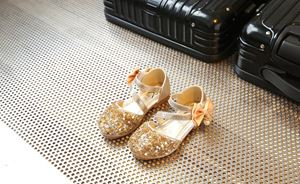 CLEARANCE SALE RIBBON BLING GOLD COLOUR GIRL SHOES