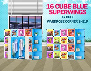 SuperWings Blue 16C DIY Cube W Corner Rack (SW16CB)