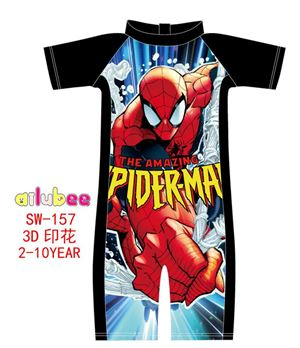 @  SW157 AILUBEE SPIDERMAN  SWIMMING SUIT ( SZ 2-10Y )