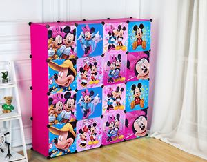 Disney Mickey 16C Pink DIY Wardrobe (MC16P)