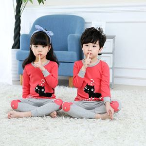 @  Unisex Korean Sedondon Pyjamas ( PINK CAT ) SZ  2Y-9Y