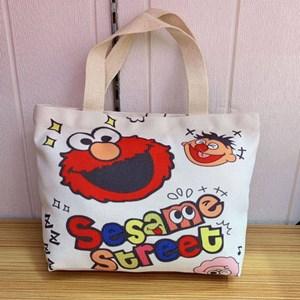 Cartoon Canvas Bag -SESAME STREET  ( Size: Height 22cm* Width 30cm* )