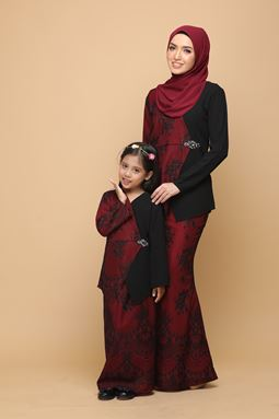 DEWI BLACK / BURGUNDY RED (KIDS)
