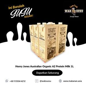 Henry Jones Australian Organic A2 Protein Milk 1L X 12 PKTS
