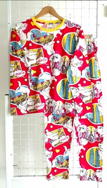SIZE XL DEWASA Pyjamas MARIE CAT KLCC RED (GL)