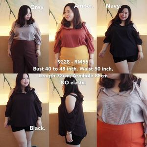 9228 Ready Stock *Bust 40 to 48 inch/ 102-121cm