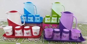 JUG SET PLASTIC - 6PCS