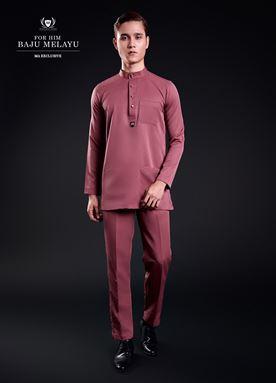 Baju Melayu For Him (Red Peach)