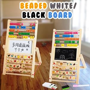 BEADED WHITE/BLACK BOARD