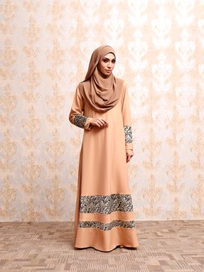 LACE JUBAH - LIGHT BROWN