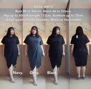 ED58 *Bust 48 to 56inch/ 121-142cm