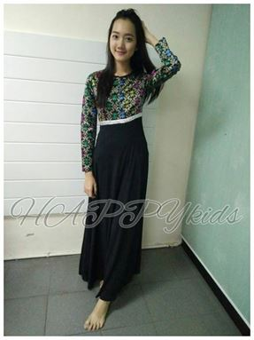 Jubah SONGKET BLACK for LADIES