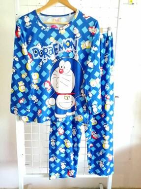 Pyjamas Dewasa Mix Blue Doraemon