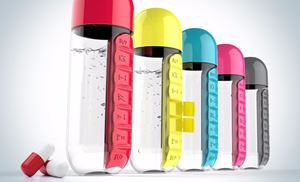 Pill and Vitamin Organizer (Water Bottle)
