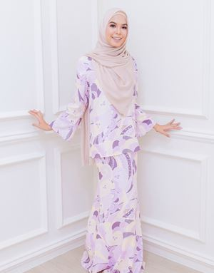 BIANCA LOOSE KURUNG IN DUSTY PURPLE/BUTTER
