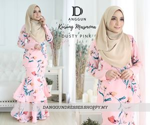 Kurung Masmona Dusty Pink