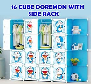16CUBE WARDROBE + CONNER SHELF ( Doraemon )