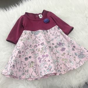 SALE - Aisya Dress ( Purple with Soft Lavender Flower)