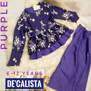 CALISTA LACEY PEPLUM ( DARK PURPLE )