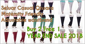 Seluar Casual Qissara YES 2018 Buy 2 Free 1🤭 *INFO ENTRY*