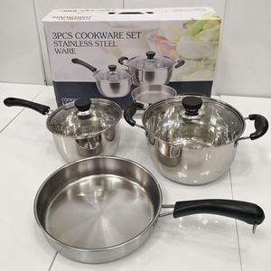 3pcs Cookware Stainless Steel