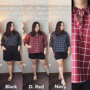 E547  Ready Stock*Bust 44 to 50 inch/110-127cm