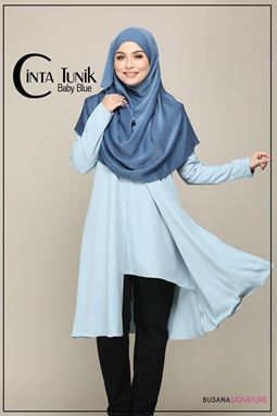 LONG BLOUSE CINTA ( BABYBLUE )
